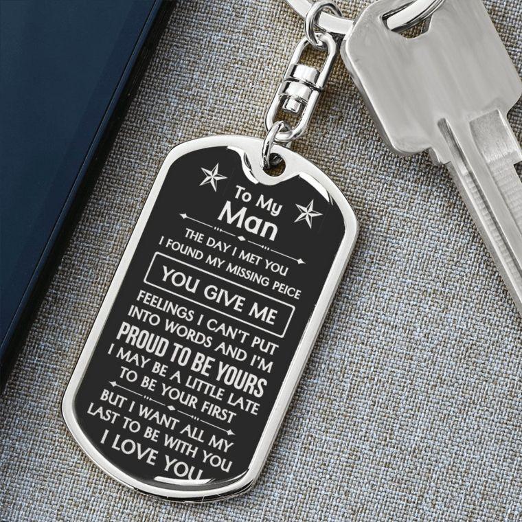 husband keychain