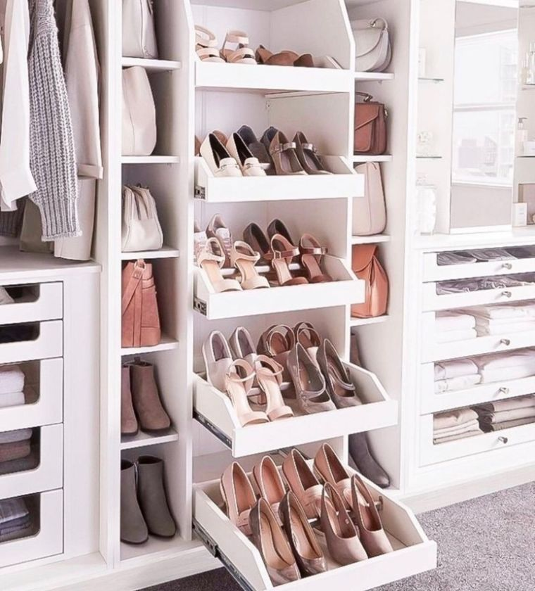 Slide-Out Shoe Storage