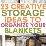 storage for blankets