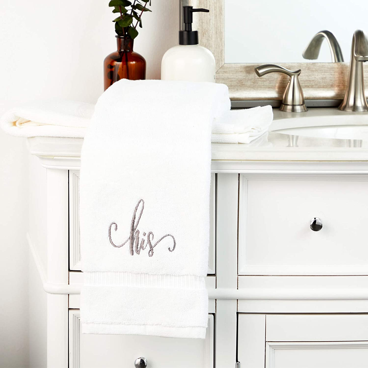 his and hers hand towels