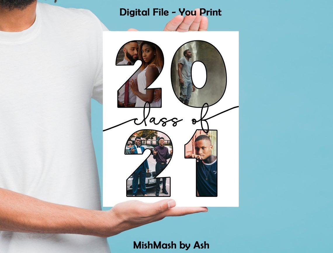 graduation digital art print