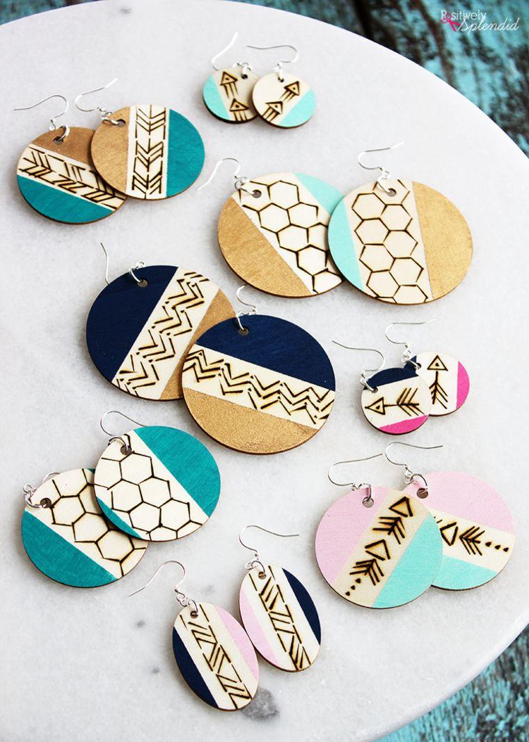 Wood-Burned Earrings