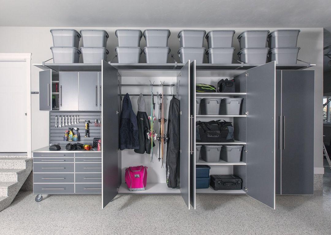 garage closet cabinets