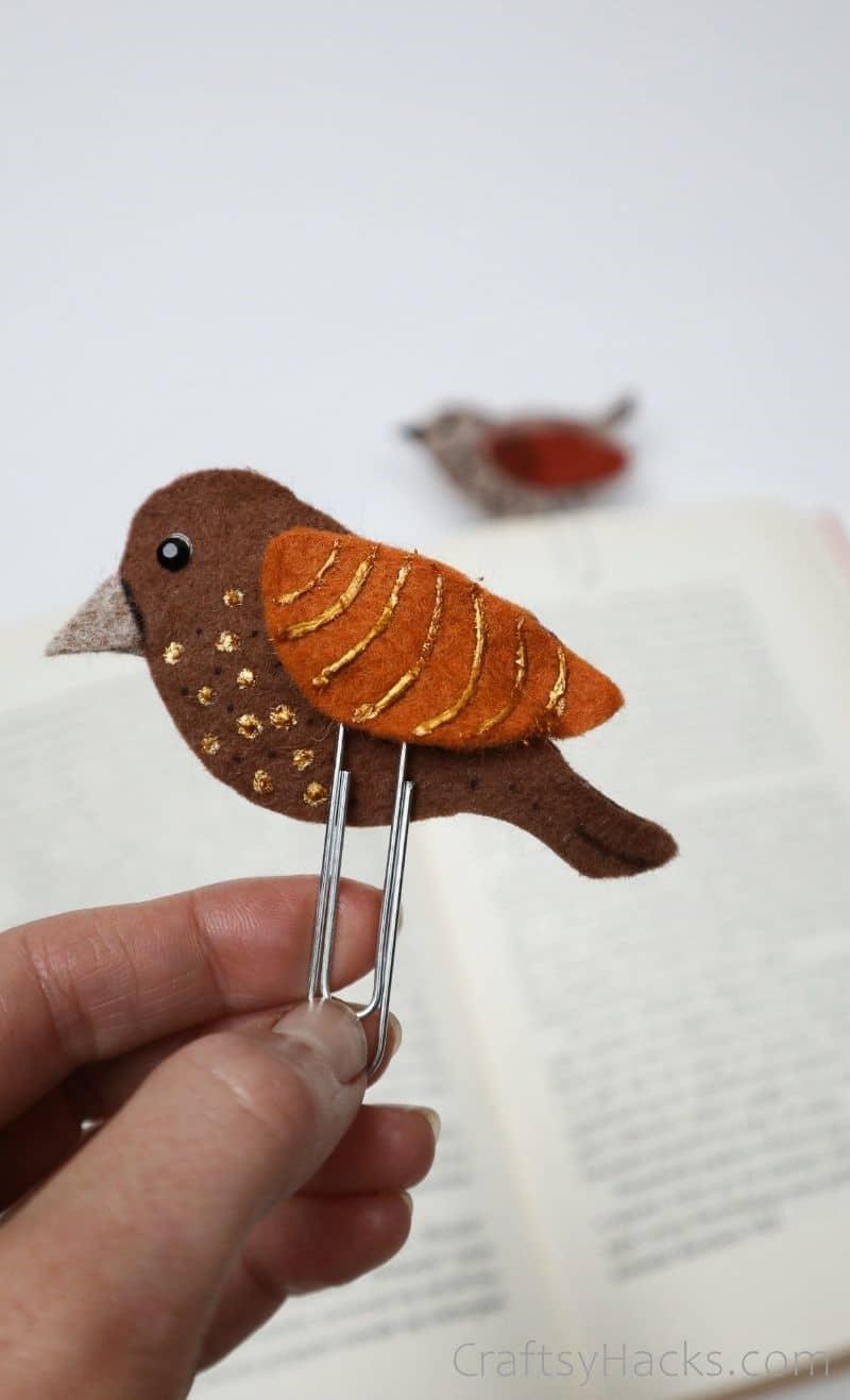 Handmade Felt Bookmark