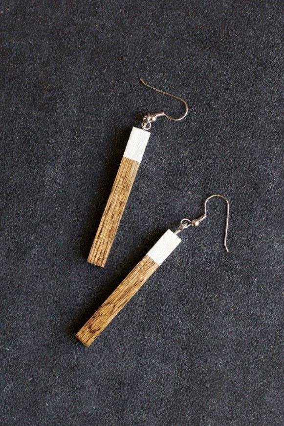 Minimalist Wood Earrings