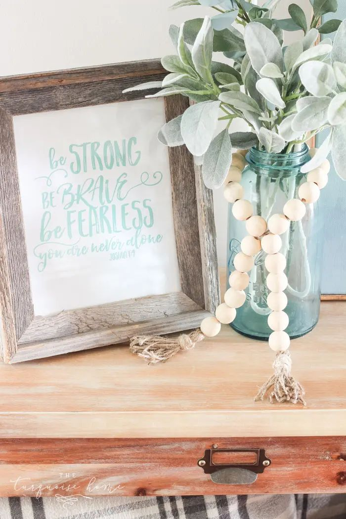 Wooden Bead Garland with Tassels