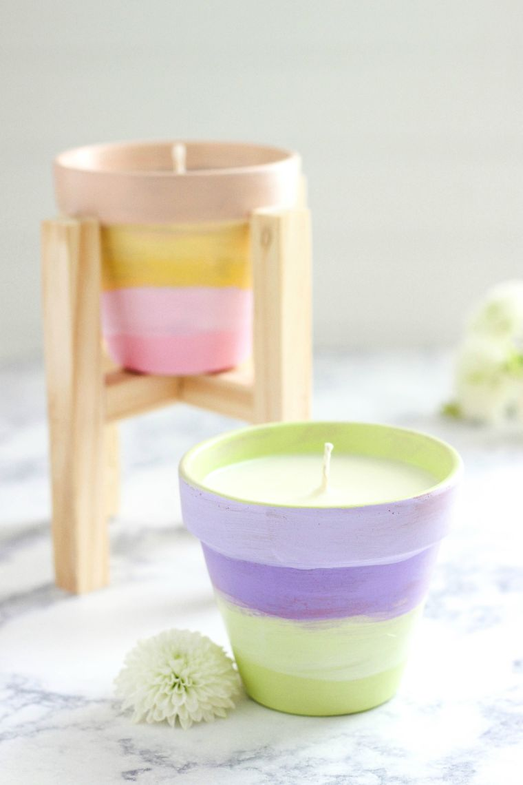 Terracotta-Potted Citronella Candles