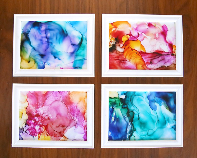 Fired Alcohol Ink Art