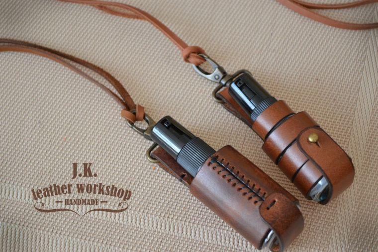 leather sanitizer holder