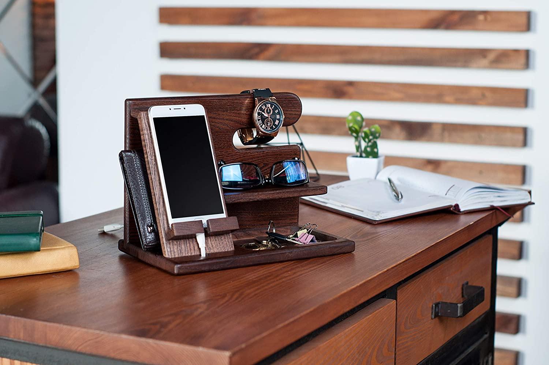 wooden accessories holder