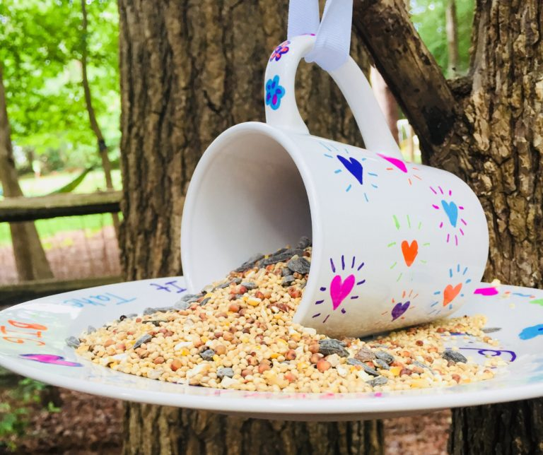 DIY Sharpie Mug Bird Feeder