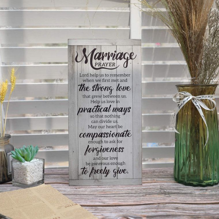 wooden marriage sign