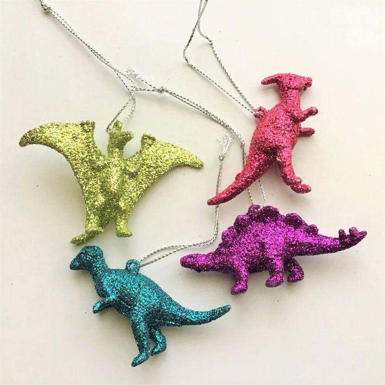 Glittery Dinosaur Earrings