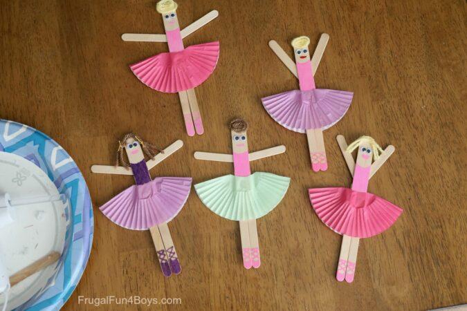 Craft Stick Ballerina Figure
