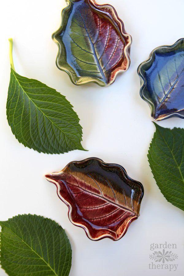 Clay Leaf Dishes