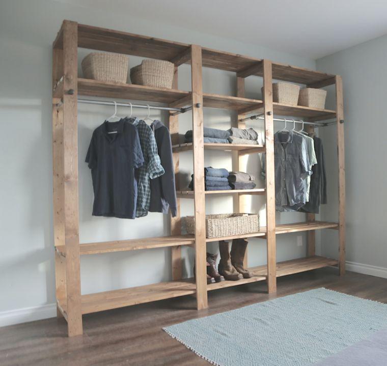 Freestanding Wooden Closet