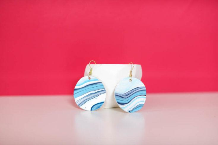 Canvas Acrylic Pour Earrings