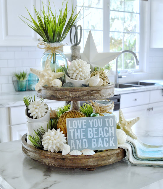 Summer Tiered Tray