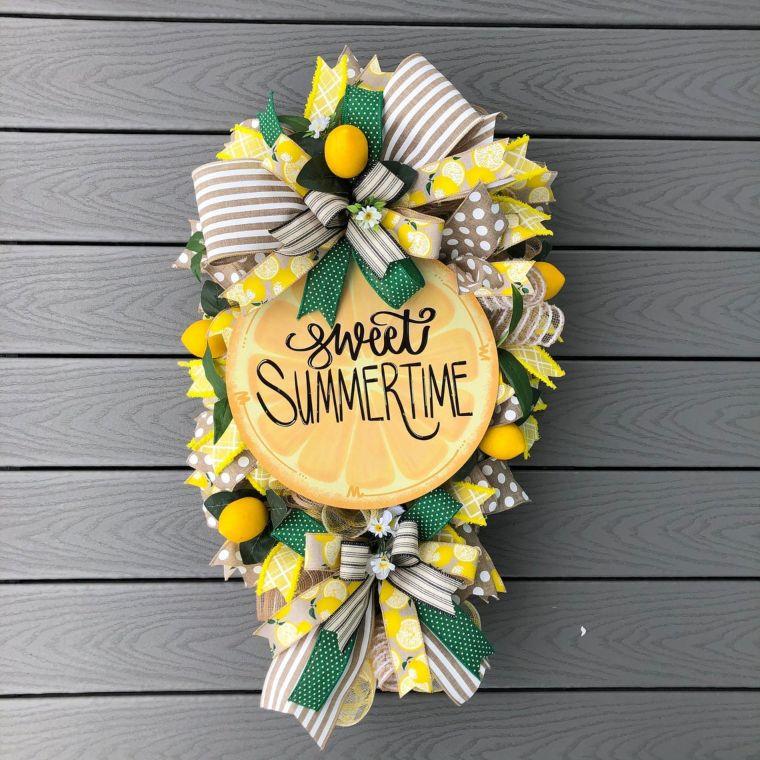 Summertime Sweet Lime Wreath