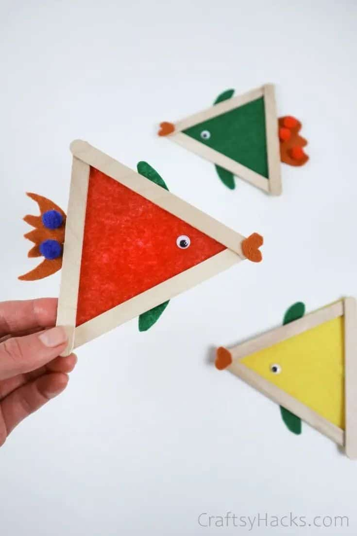 Fabric Fish Craft For Kids