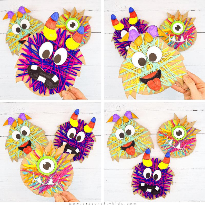 Yarn Wrapped Monster Craft