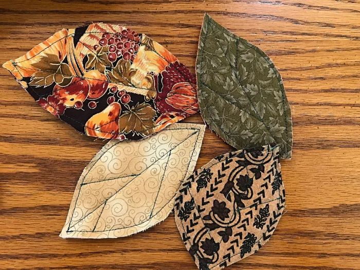 Fall Leaves Fabric Table Runner
