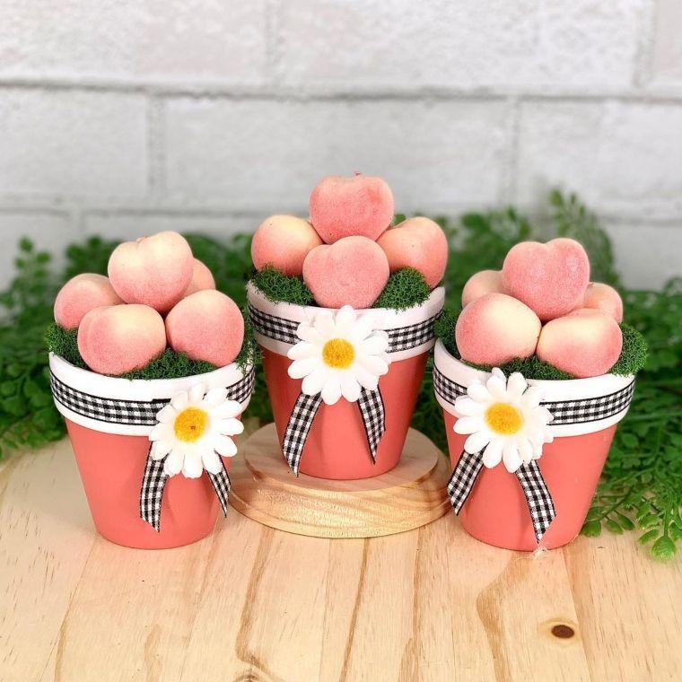 Pretty in Peach Pots