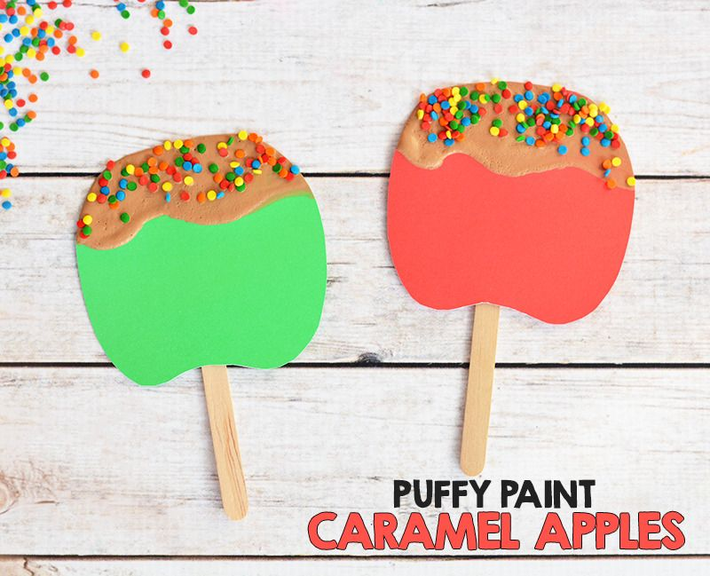 Puffy Painted Caramel Apple