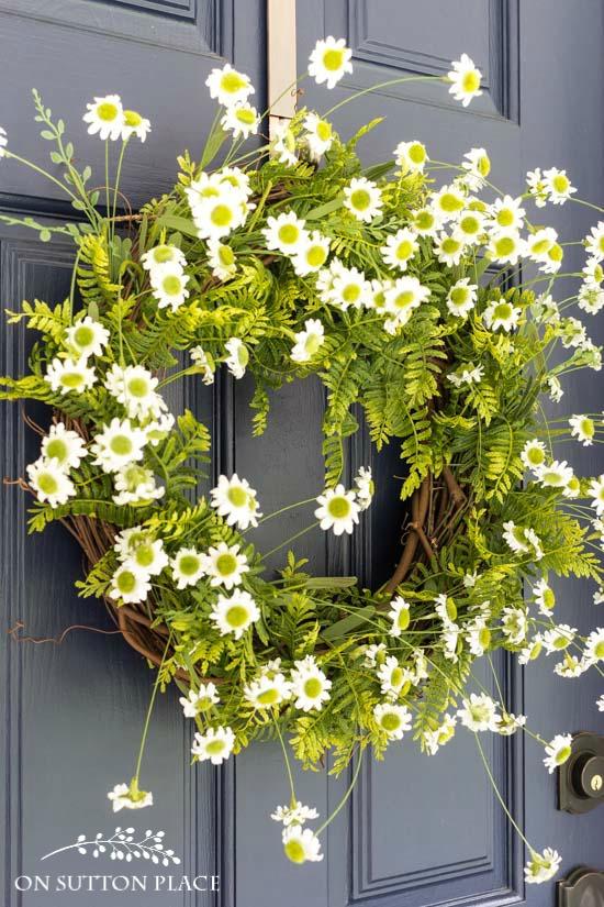 Fern and Daisy Wreath