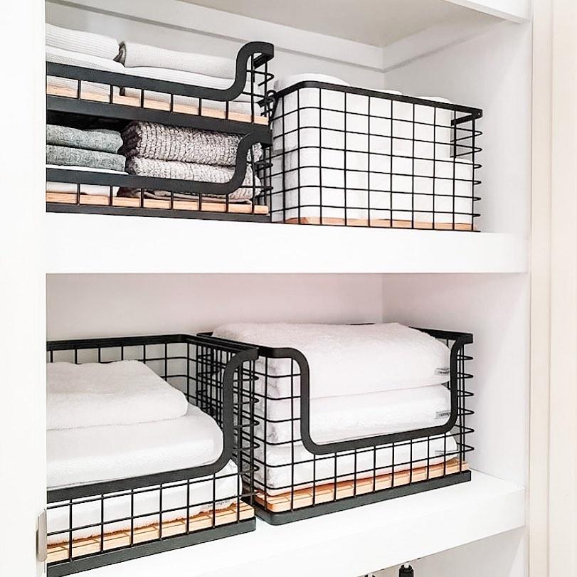 Linen Closet Wire Baskets