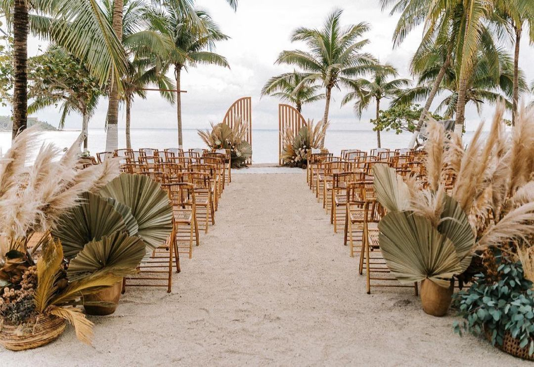tropical themed ceremony