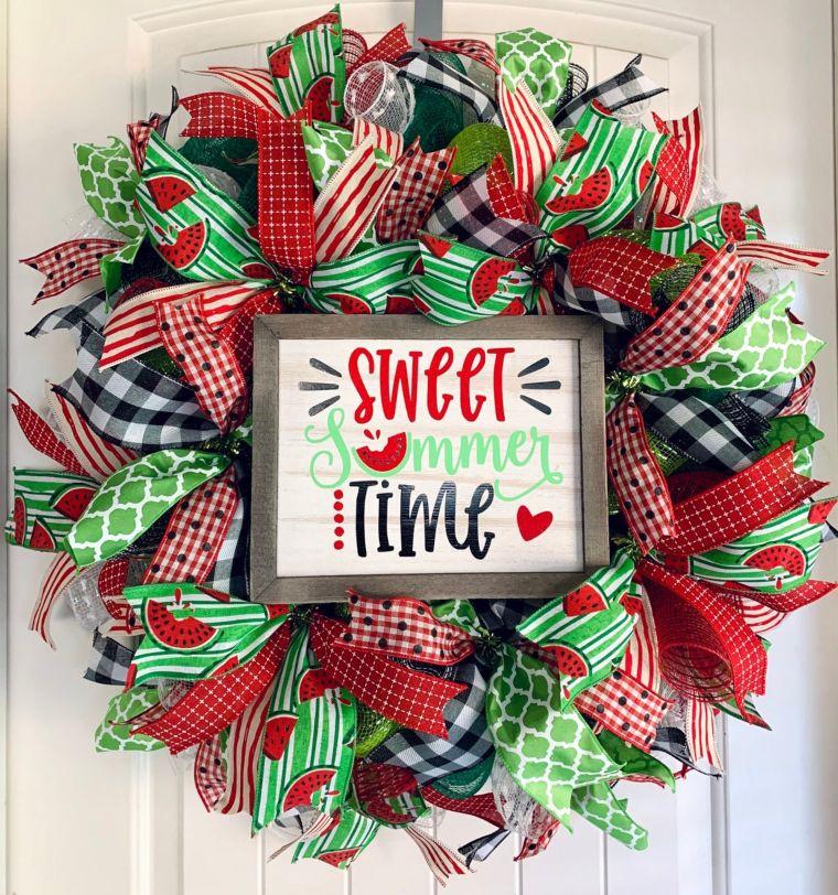 Sweet Watermelon Wreath