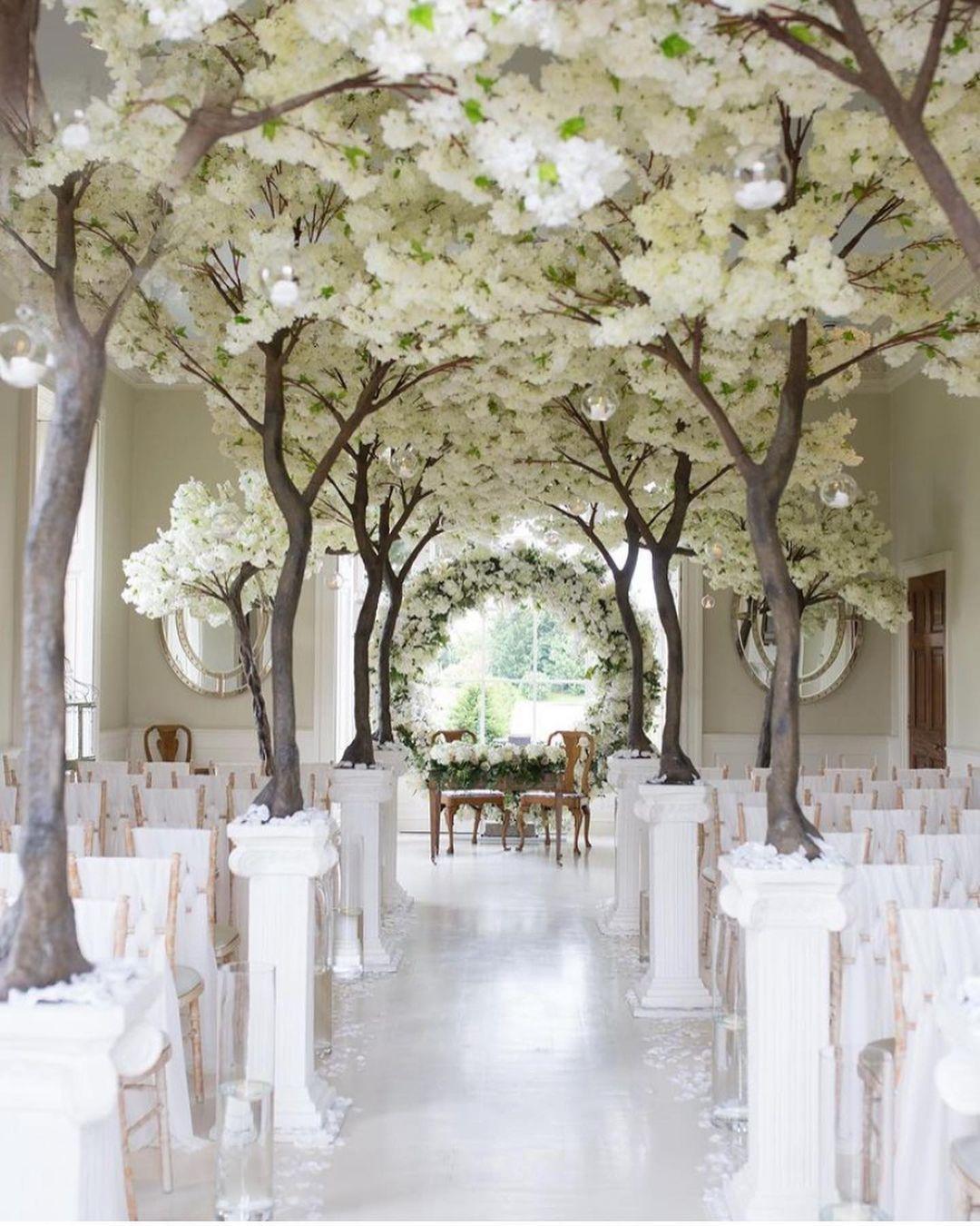 White Blossom Wedding Ceremony