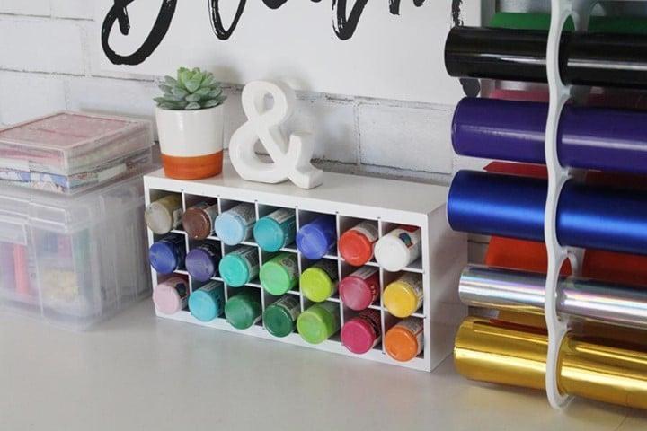 Watercolour shelf stand