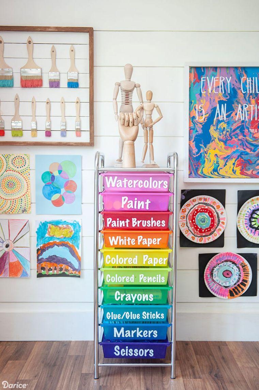 Art Supply Room Organization