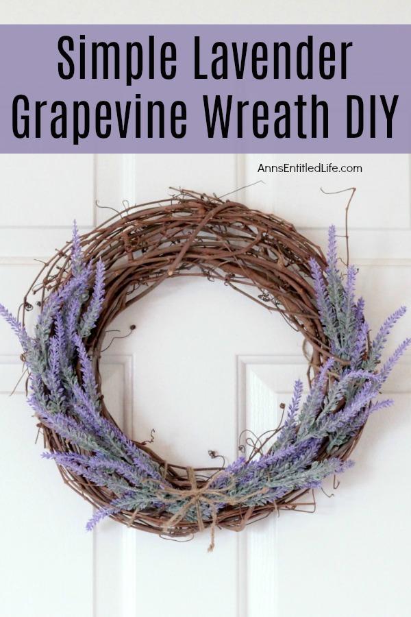 Lavender Grapevine Wreath
