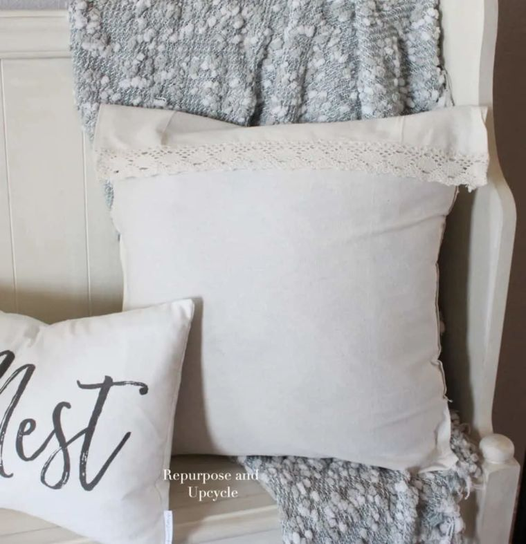 Upcycled No-Sew Pillow Cover