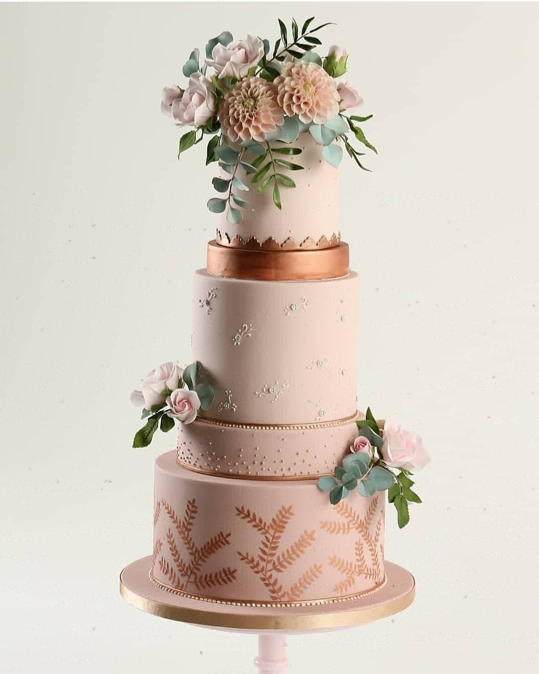 Pearl Studded Five Layered Cake