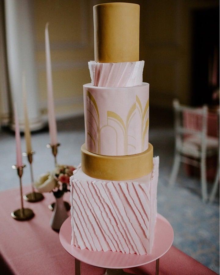 pink wallpaper cake