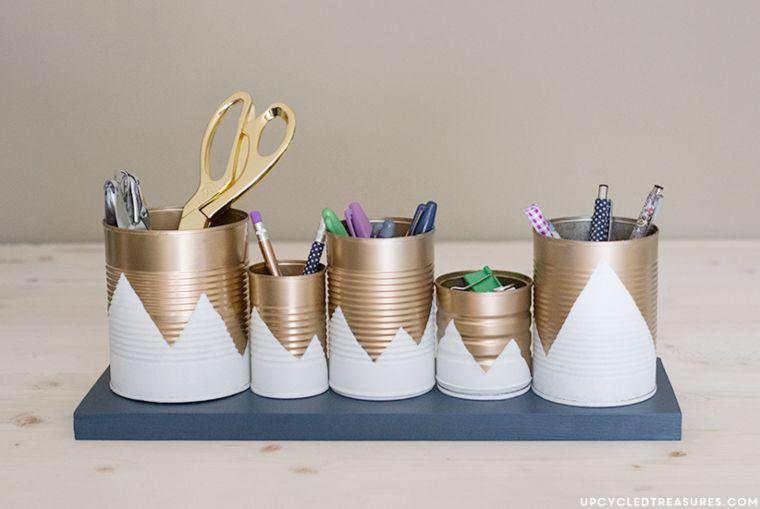 Upcycled Tin Organizer