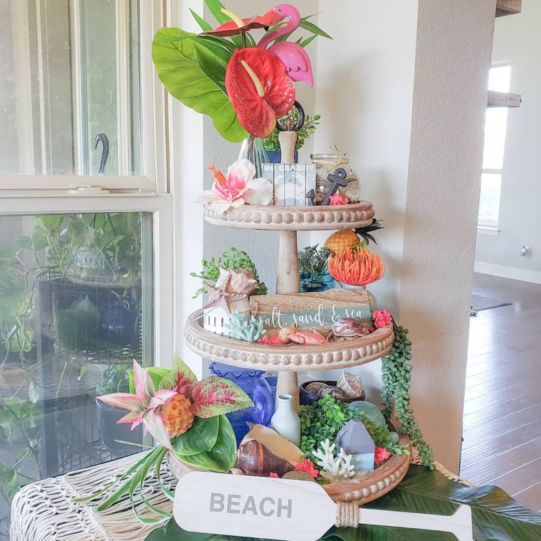 Three-Tiered Summer Display