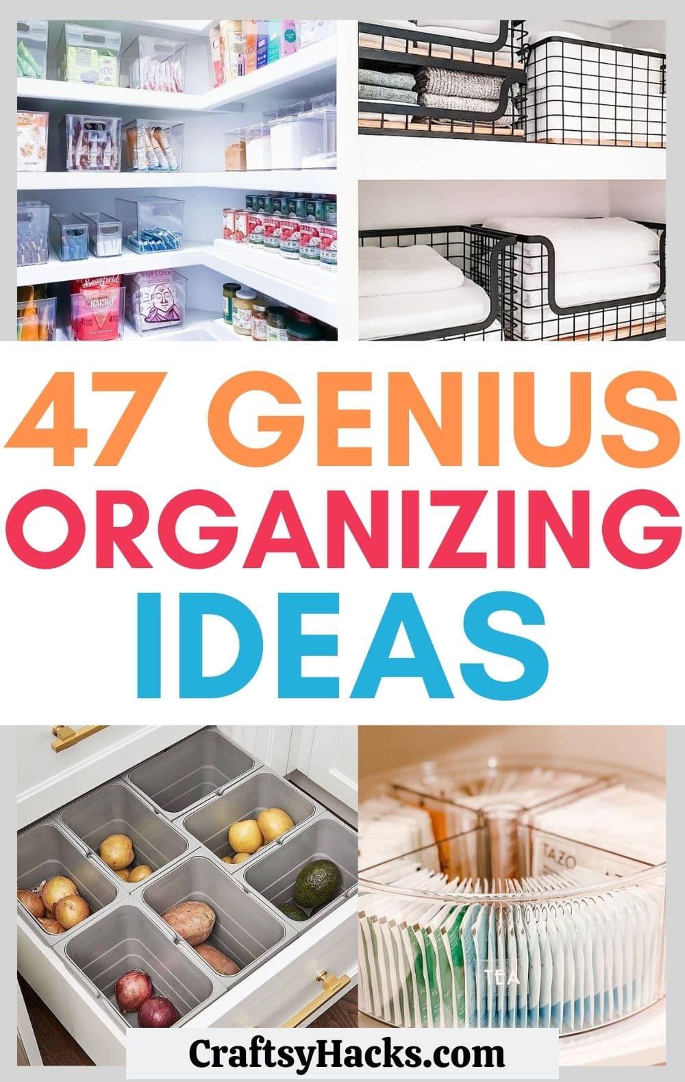 genius organizing ideas