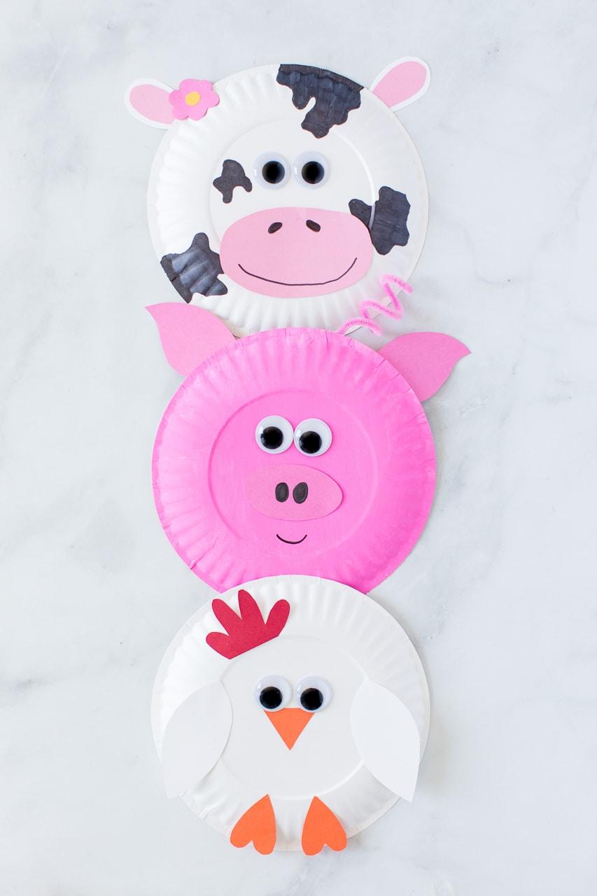 Paper Plate Farm Animal