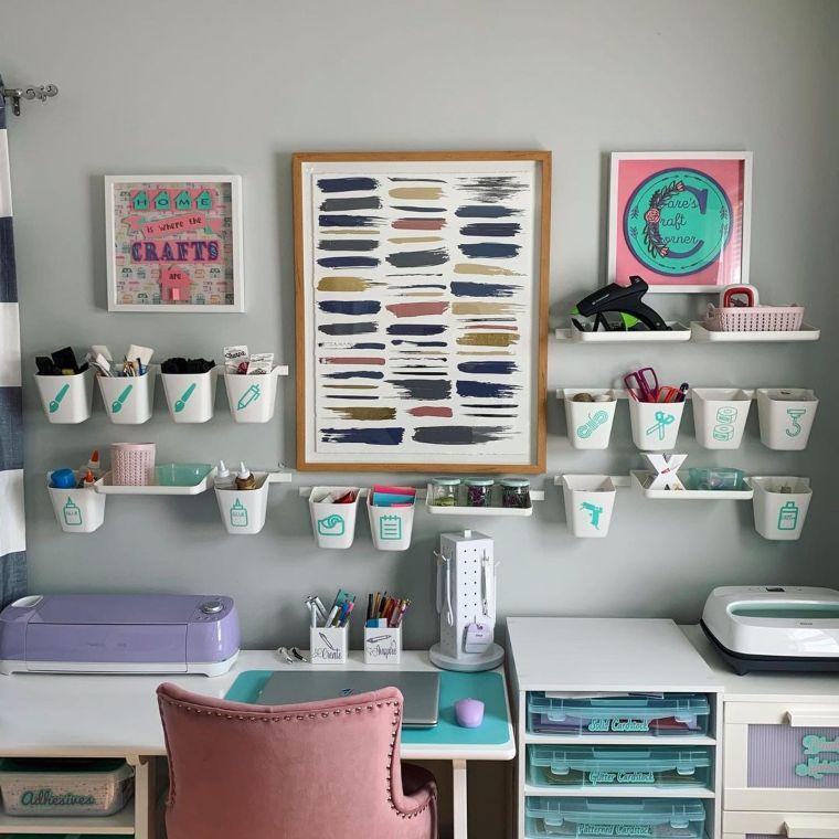 Craft Desk With Hanging Bin-Storage