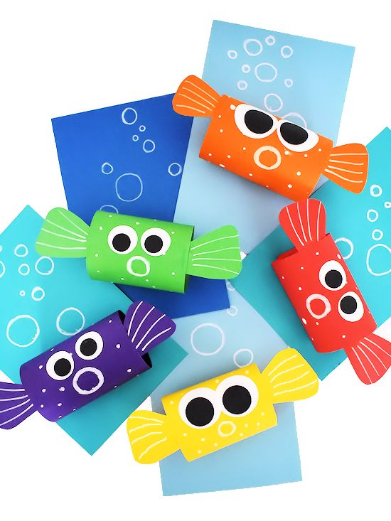 Paper Loop Pufferfish Craft