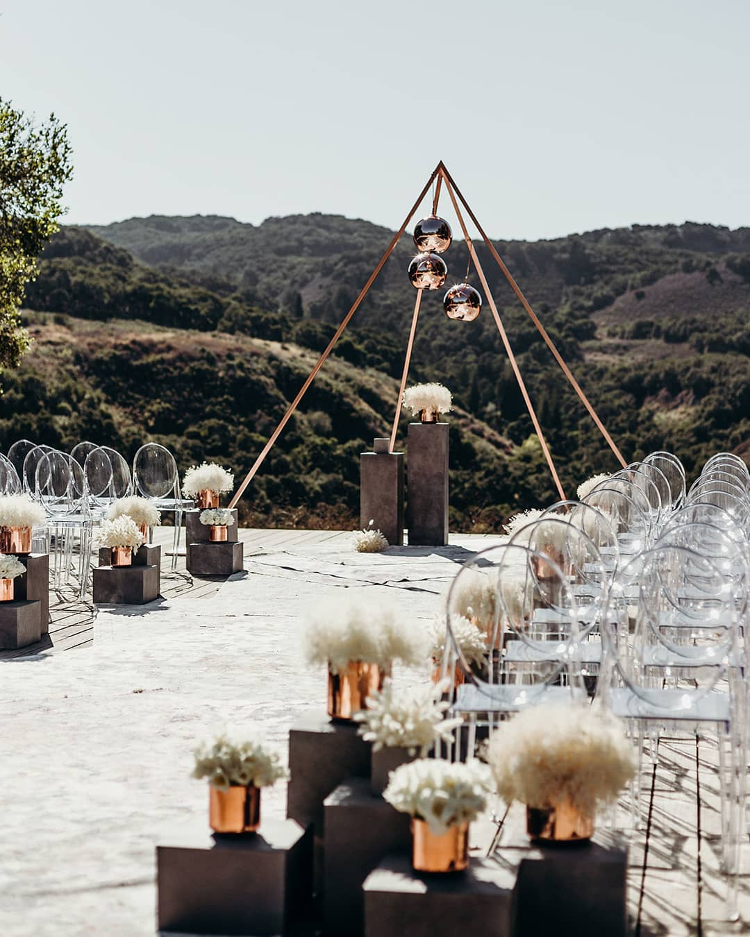 clear chairs and modern decor