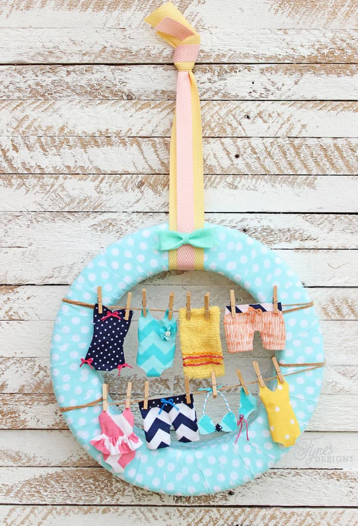 Swimsuits On A Summer Wreath