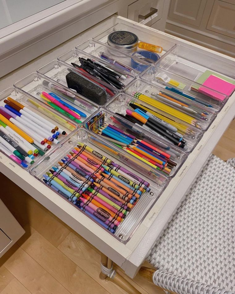 Stationery drawer organizer