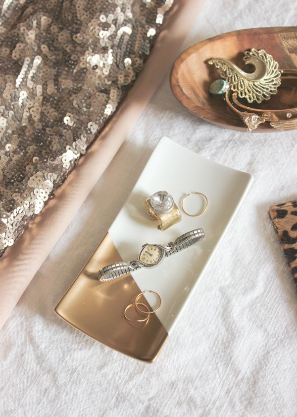 Gold Dipped Jewelry Tray