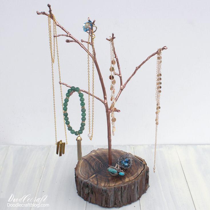 Resin Tree Branch Jewelry Organiser
